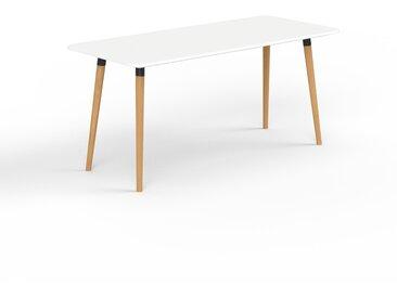 Schreibtisch Massivholz Weiß - Moderner Massivholz-Schreibtisch: Einzigartiges Design - 160 x 75 x 70 cm, konfigurierbar