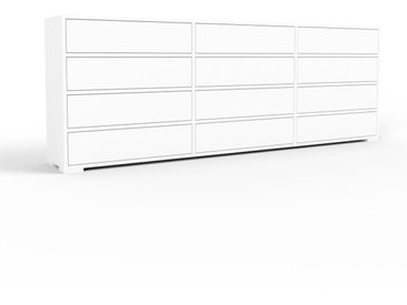Kommode Weiß - Design-Lowboard: Schubladen in Weiß - Hochwertige Materialien - 226 x 81 x 35 cm, Selbst zusammenstellen