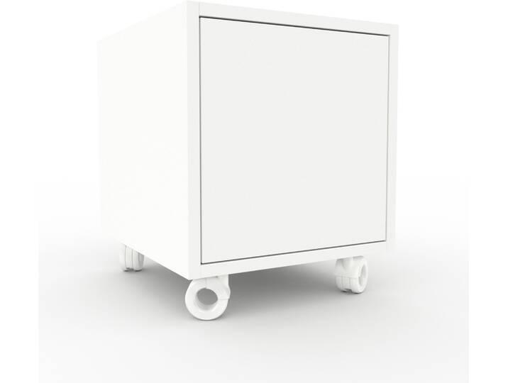 Kommoden und Container - Rollcontainer Weiß Moderner Rollcontainer Türen in Weiß 41 x 49 x 47 cm, konfigurierbar  - Onlineshop Moebel.de