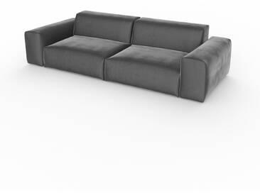 Schlafsofa Steingrau - Elegantes, gemütliches Bettsofa: Hochwertige Qualität, einzigartiges Design - 268 x 72 x 107 cm, konfigurierbar