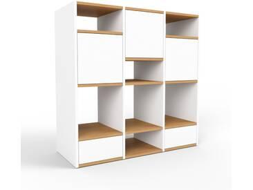Regalsystem Weiß - Regalsystem: Schubladen in Weiß & Türen in Weiß - Hochwertige Materialien - 118 x 118 x 47 cm, konfigurierbar