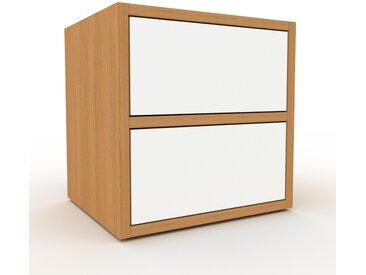 Rollcontainer Eiche - Moderner Rollcontainer: Schubladen in Weiß - 41 x 41 x 35 cm, konfigurierbar