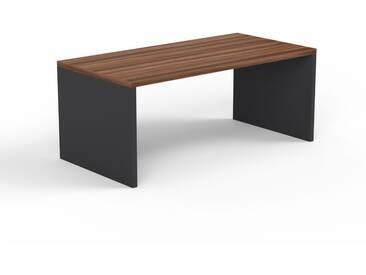 Schreibtisch Massivholz Nussbaum, Holz - Moderner Massivholz-Schreibtisch: Einzigartiges Design - 180 x 75 x 90 cm, konfigurierbar