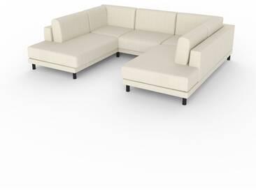 Sofa Cremebeige - Moderne Designer-Couch: Hochwertige Qualität, einzigartiges Design - 268 x 75 x 214 cm, Komplett anpassbar