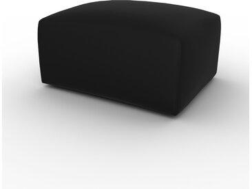 Polsterhocker Samt Steingrau - Eleganter Polsterhocker: Hochwertige Qualität, einzigartiges Design - 80 x 42 x 64 cm, Individuell konfigurierbar