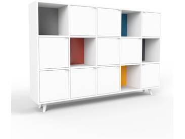 Highboard Weiß - Elegantes Highboard: Türen in Weiß - Hochwertige Materialien - 195 x 130 x 35 cm, Selbst designen