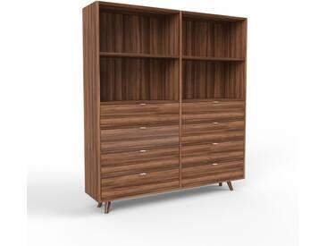 Aktenschrank Nussbaum - Flexibler Büroschrank: Schubladen in Nussbaum - Hochwertige Materialien - 152 x 168 x 35 cm, Modular