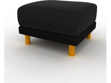 Polsterhocker Samt Schwarz - Eleganter Polsterhocker: Hochwertige Qualität, einzigartiges Design - 60 x 42 x 60 cm, Individuell konfigurierbar