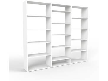 Regalsystem Weiß - Flexibles Regalsystem: Hochwertige Qualität, einzigartiges Design - 226 x 195 x 35 cm, Komplett anpassbar
