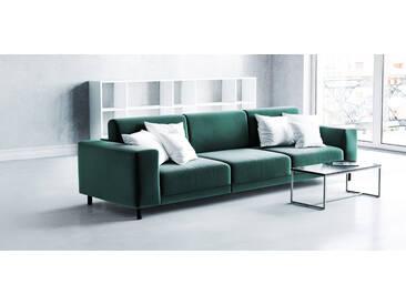 Sofa Tannengrün - Moderne Designer-Couch: Hochwertige Qualität, einzigartiges Design - 288 x 75 x 98 cm, Komplett anpassbar