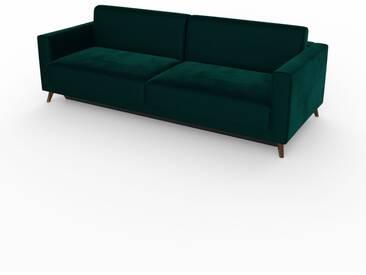 Schlafsofa Petrolblau - Elegantes, gemütliches Bettsofa: Hochwertige Qualität, einzigartiges Design - 225 x 75 x 98 cm, konfigurierbar