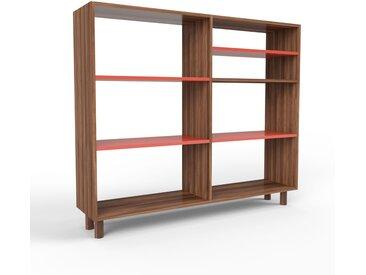 Schallplattenregal Nussbaum, Holz - Modernes Regal für Schallplatten: Hochwertige Qualität, einzigartiges Design - 152 x 130 x 35 cm, Selbst designen
