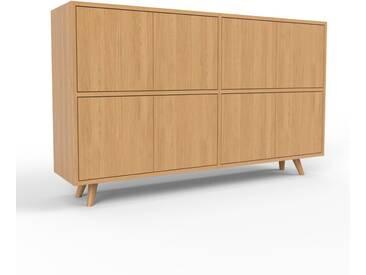 Sideboard Eiche - Designer-Sideboard: Türen in Eiche - Hochwertige Materialien - 152 x 91 x 35 cm, Individuell konfigurierbar