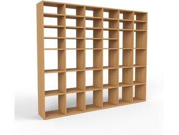 Holzregal Eiche, Holz - Skandinavisches Regal aus Holz: Hochwertige Qualität, einzigartiges Design - 233 x 195 x 35 cm, Personalisierbar