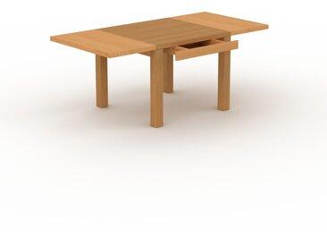 Designer Esstisch Massivholz Eiche - Massivholztisch: mit 1 Schublade/n & Tischrahmen - Hochwertige Materialien - 190 x 76 x 90 cm, Modular