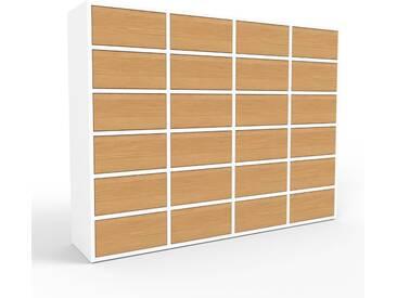 Highboard Weiß - Elegantes Highboard: Schubladen in Eiche - Hochwertige Materialien - 156 x 118 x 35 cm, Selbst designen