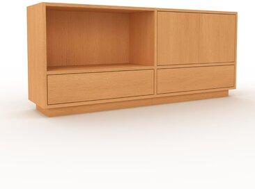 Lowboard Buche - TV-Board: Schubladen in Buche & Türen in Buche - Hochwertige Materialien - 152 x 66 x 35 cm, Komplett anpassbar