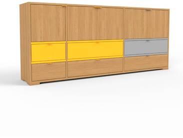 Sideboard Eiche - Sideboard: Schubladen in Eiche & Türen in Eiche - Hochwertige Materialien - 190 x 81 x 35 cm, konfigurierbar