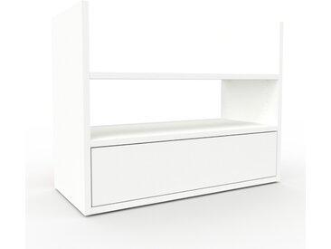 Rollcontainer Weiß - Moderner Rollcontainer: Schubladen in Weiß - 77 x 61 x 35 cm, konfigurierbar