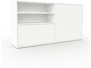 Sideboard Weiß - Designer-Sideboard: Türen in Weiß - Hochwertige Materialien - 152 x 80 x 35 cm, Individuell konfigurierbar