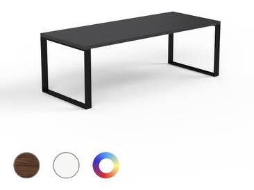 Designer Esstisch Massivholz Schwarz - Individueller Designer-Massivholztisch: Einzigartiges Design - 220 x 75 x 90 cm, Modular