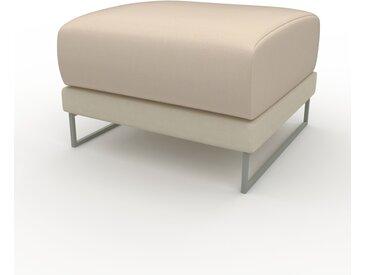 Polsterhocker Cremebeige - Eleganter Polsterhocker: Hochwertige Qualität, einzigartiges Design - 60 x 42 x 60 cm, Individuell konfigurierbar