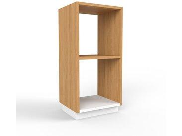 Schallplattenregal Eiche, Holz - Modernes Regal für Schallplatten: Hochwertige Qualität, einzigartiges Design - 41 x 85 x 35 cm, Selbst designen