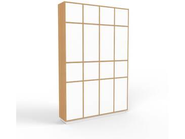 Aktenschrank Eiche - Flexibler Büroschrank: Türen in Weiß - Hochwertige Materialien - 156 x 239 x 35 cm, Modular