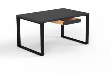 Schreibtisch Massivholz Schwarz - Moderner Massivholz-Schreibtisch: mit 1 Schublade/n - Hochwertige Materialien - 140 x 75 x 90 cm, konfigurierbar