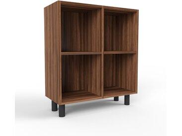 Schallplattenregal Nussbaum, Holz - Modernes Regal für Schallplatten: Hochwertige Qualität, einzigartiges Design - 79 x 91 x 35 cm, Selbst designen