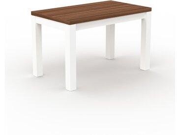 Designer Esstisch Massivholz Nussbaum - Individueller Designer-Massivholztisch: mit Tischrahmen - Hochwertige Materialien - 120 x 76 x 70 cm, Modular