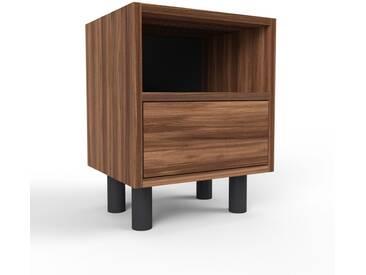 Nachtschrank Nussbaum - Eleganter Nachtschrank: Schubladen in Nussbaum - Hochwertige Materialien - 41 x 53 x 35 cm, konfigurierbar