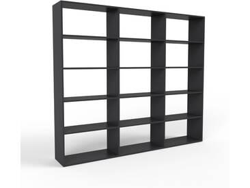 Bücherregal Schwarz - Modernes Regal für Bücher: Hochwertige Qualität, einzigartiges Design - 226 x 195 x 35 cm, Individuell konfigurierbar