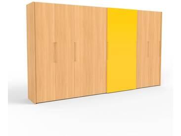 Kleiderschrank Buche, Holz - Individueller Designer-Kleiderschrank - 404 x 233 x 65 cm, Selbst Designen, hohe Schublade/Schublade Glasfront/Kleiderlift/Hosenhalter