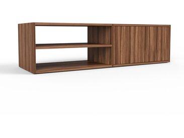 TV-Schrank Nussbaum - Moderner Fernsehschrank: Türen in Nussbaum - 152 x 41 x 47 cm, konfigurierbar
