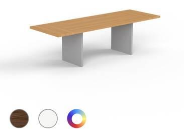 Designer Esstisch Massivholz Eiche, Holz - Individueller Designer-Massivholztisch: Einzigartiges Design - 260 x 75 x 90 cm, Modular