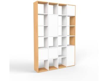 Aktenschrank Weiß - Flexibler Büroschrank: Türen in Weiß - Hochwertige Materialien - 156 x 233 x 35 cm, Modular