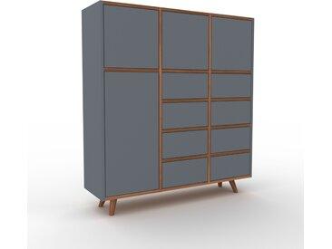 Highboard Anthrazit - Highboard: Schubladen in Anthrazit & Türen in Anthrazit - Hochwertige Materialien - 118 x 130 x 35 cm, Selbst designen