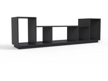 Schallplattenregal Schwarz - Modernes Regal für Schallplatten: Hochwertige Qualität, einzigartiges Design - 231 x 66 x 47 cm, Selbst designen