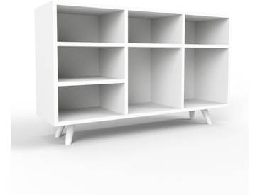 Bücherregal Weiß - Modernes Regal für Bücher: Hochwertige Qualität, einzigartiges Design - 118 x 72 x 35 cm, Individuell konfigurierbar