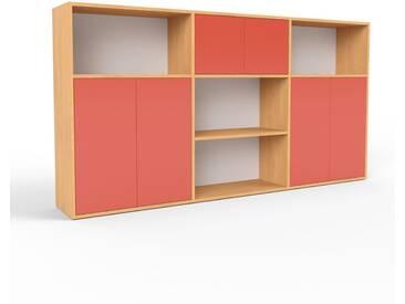 Highboard Buche - Elegantes Highboard: Türen in Rot - Hochwertige Materialien - 226 x 118 x 35 cm, Selbst designen