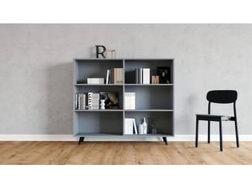 Regalsystem Grau - Flexibles Regalsystem: Hochwertige Qualität, einzigartiges Design - 152 x 130 x 35 cm, Komplett anpassbar