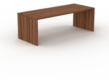 Schreibtisch Massivholz Nussbaum, Holz - Moderner Massivholz-Schreibtisch: Einzigartiges Design - 220 x 75 x 90 cm, konfigurierbar