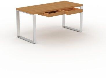 Schreibtisch Massivholz Eiche - Moderner Massivholz-Schreibtisch: mit 2 Schublade/n - Hochwertige Materialien - 160 x 75 x 70 cm, konfigurierbar