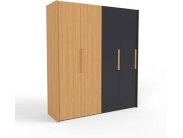 Kleiderschrank Eiche/Schwarz - Individueller Designer-Kleiderschrank - 204 x 233 x 62 cm, Selbst Designen, nur bei MYCS