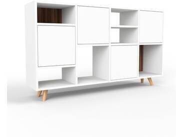 Sideboard Weiß - Designer-Sideboard: Türen in Weiß - Hochwertige Materialien - 156 x 91 x 35 cm, Individuell konfigurierbar