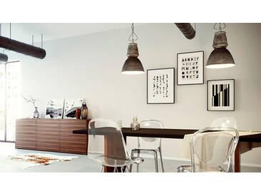 Holztisch Massivholz Schwarz - Eleganter Esstisch, Massivholztisch: Einzigartiges Design - 220 x 75 x 90 cm, konfigurierbar