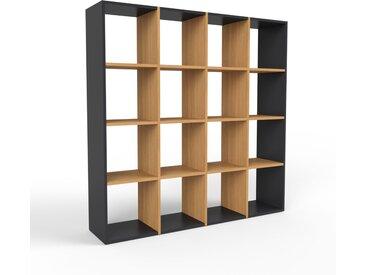 Holzregal Eiche, Holz - Skandinavisches Regal aus Holz: Hochwertige Qualität, einzigartiges Design - 156 x 157 x 35 cm, Personalisierbar