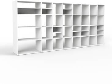 Bücherregal Weiß - Modernes Regal für Bücher: Hochwertige Qualität, einzigartiges Design - 347 x 157 x 47 cm, Individuell konfigurierbar