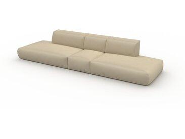 Ledersofa Taupebeige Veganes Leder - Elegantes, gemütliches Ledersofa: Hochwertige Qualität, einzigartiges Design - 356 x 72 x 107 cm, konfigurierbar